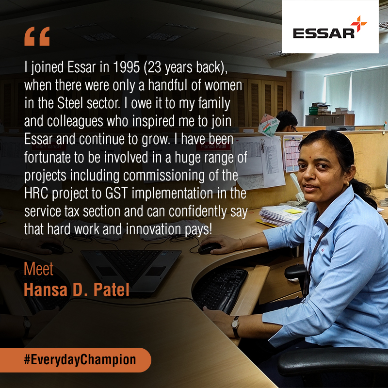 Everyday Champions meet Essar's Hansa Patel - Essar   Let's Begin
