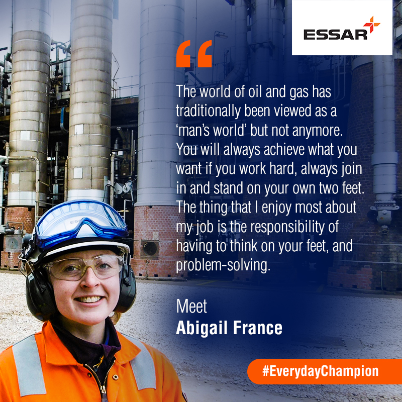 Everyday Champions meet Essar's Abigail France - Essar | Let's Begin
