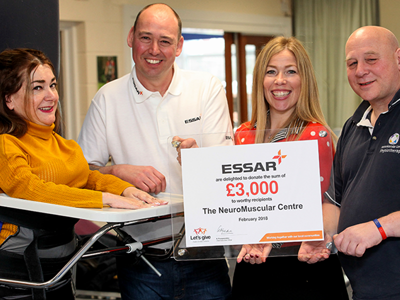 Essar Lets Give-programme Charities to NeuroMuscular Centre
