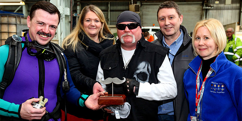 Essar Oil UK Stanlow celebrity moustache competition