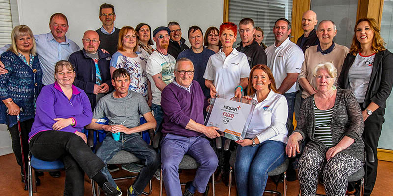 Essar donation for head injury and supportive workplace charities