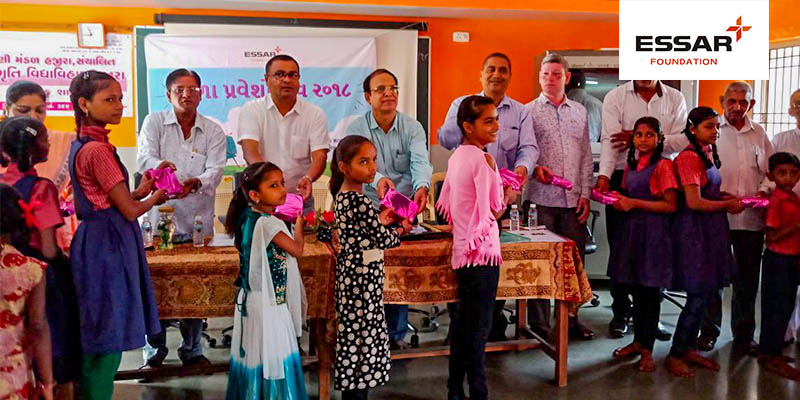 Essar Foundation supports celebration of enrolment in School - Shala Praveshotsav