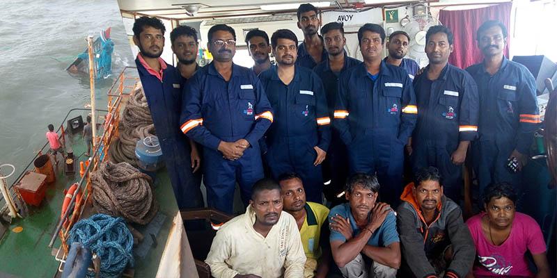 Essar Hazira vessel rescues five fishermen off Gujarat coast