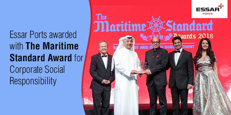 Essar Ports awarded with The Maritime Standard Award for Corporate Social Responsibility