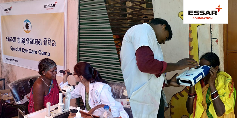 Eye screening camp at Badapadar