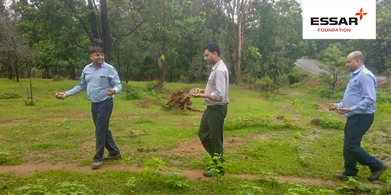 Essar practices seed bombing reforestation technique at